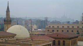 De koepel en de minaret van moskee al-Hussain stock footage