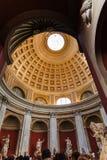 De koepel in Ronde Zaal van de musea van Vatikaan Stock Afbeelding