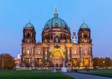 De Koepel van Berlijn bij nacht Royalty-vrije Stock Foto