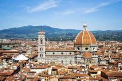 De Koepel van Brunelleschi stock foto's
