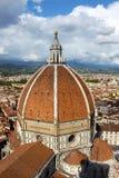 De Koepel van Brunelleschi - Florence Dome stock afbeelding