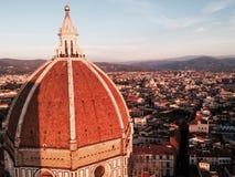De koepel van de Kathedraal van Santa Maria del Fiore in Florence Stock Fotografie
