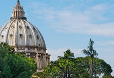De Koepel van de Pauselijke Basiliek Royalty-vrije Stock Afbeelding