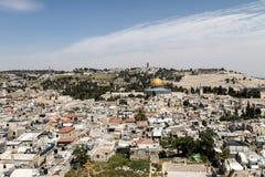 De Koepel van de Rots in de Oude Stad, Jeruzalem Stock Afbeeldingen