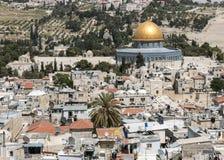 De Koepel van de Rots op de Tempel zet in Jeruzalem op Royalty-vrije Stock Afbeelding