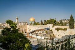 De Koepel van de Rots, Oude Stad van Jeruzalem, Israël royalty-vrije stock afbeeldingen