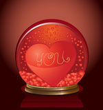 De koepel van de valentijnskaart Royalty-vrije Stock Foto's