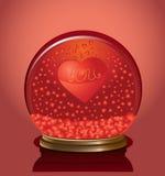 De koepel van de valentijnskaart met harten daarin Stock Foto's