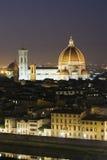 De koepel van Florence bij schemer royalty-vrije stock afbeeldingen