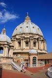 De koepel van heilige Peters Basilica, de Stad van Vatikaan Royalty-vrije Stock Fotografie