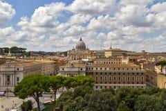 De koepel van heilige Peters in Rome Royalty-vrije Stock Foto