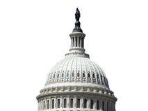 De Koepel van het Capitool van de V.S. die op Wit wordt geïsoleerdj Stock Afbeeldingen