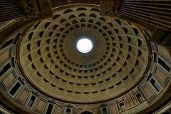 De koepel van het Pantheon in Rome Royalty-vrije Stock Foto