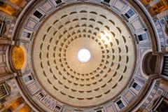 De koepel van het Pantheon in Rome, Italië Royalty-vrije Stock Foto