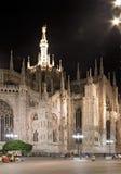 De koepel van Milaan bij nacht Stock Fotografie