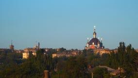 De koepel van de Orthodoxe Kerk stock footage