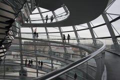 De Koepel van Reichstag, Berlijn Stock Afbeeldingen