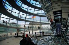 De Koepel van Reichstag - Berlijn Stock Afbeeldingen
