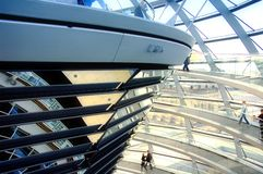 De Koepel van Reichstag - Berlijn Royalty-vrije Stock Foto's