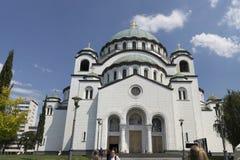 De koepel van St Sava tempel in het Servische kapitaal van Belgrado Stock Foto's