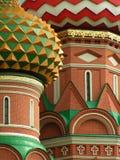 De koepels van de Basilicum van heilige, Moskou, Rusland Stock Afbeelding