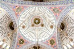 De koepels van de moskee - binnen mening Stock Afbeeldingen