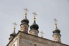 De koepels van oud Christian Cathedral stock foto