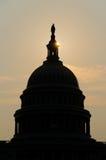 De koepelsilhouet van het Capitool van de V.S., Washington DC royalty-vrije stock foto's