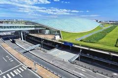 De koepelvormige Hoofdluchthaven van Peking van het dakparkeren royalty-vrije stock foto's