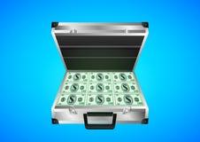 De koffer met het geld stock illustratie