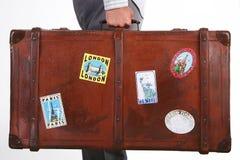 De koffer van de reis Stock Foto's