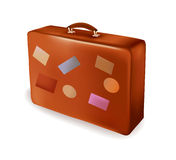 De koffer van de reis. Vector. Stock Afbeeldingen