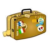 De koffer van de reiziger Royalty-vrije Stock Fotografie
