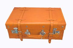 De koffer van het leer Stock Foto's
