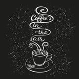 De koffie is in de luchtaffiche Royalty-vrije Stock Fotografie