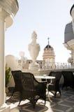 De koffie Gran van het dak via kathedraalmening Madrid Spanje Royalty-vrije Stock Foto