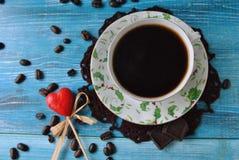 De koffie is liefde Stock Fotografie