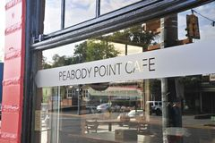 De Koffie Memphis, TN van het Peabodypunt royalty-vrije stock foto
