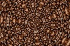 De koffie omcirkelt Achtergrond Stock Foto
