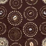 De koffie omcirkelt patroon Royalty-vrije Stock Fotografie