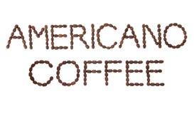 De Koffie van Americano Stock Foto's