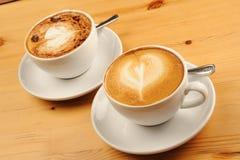 De Koffie van cappuccino's Stock Foto
