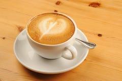 De Koffie van cappuccino's Stock Afbeeldingen