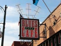 De Koffie van de blauwstad, Beale-Straat Memphis, Tennessee Stock Foto
