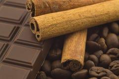 De koffie van de chocoladekaneel Stock Foto