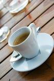 De Koffie van de espresso in Kop Royalty-vrije Stock Foto