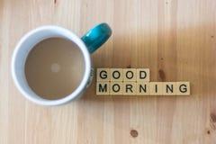 De koffie van de goedemorgen Royalty-vrije Stock Foto's