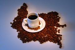 De Koffie van de Grens van Colombia   Royalty-vrije Stock Fotografie