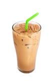 De koffie van de ijsmelk, op wit wordt geïsoleerd dat Royalty-vrije Stock Fotografie