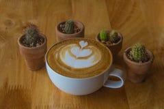 de koffie van de koffiekop/nadruk Stock Foto's